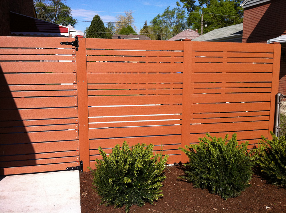 Horizontal Cedar Fencing Product Examples